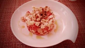 Salade de crozets aux légumes d'été et au pélardon