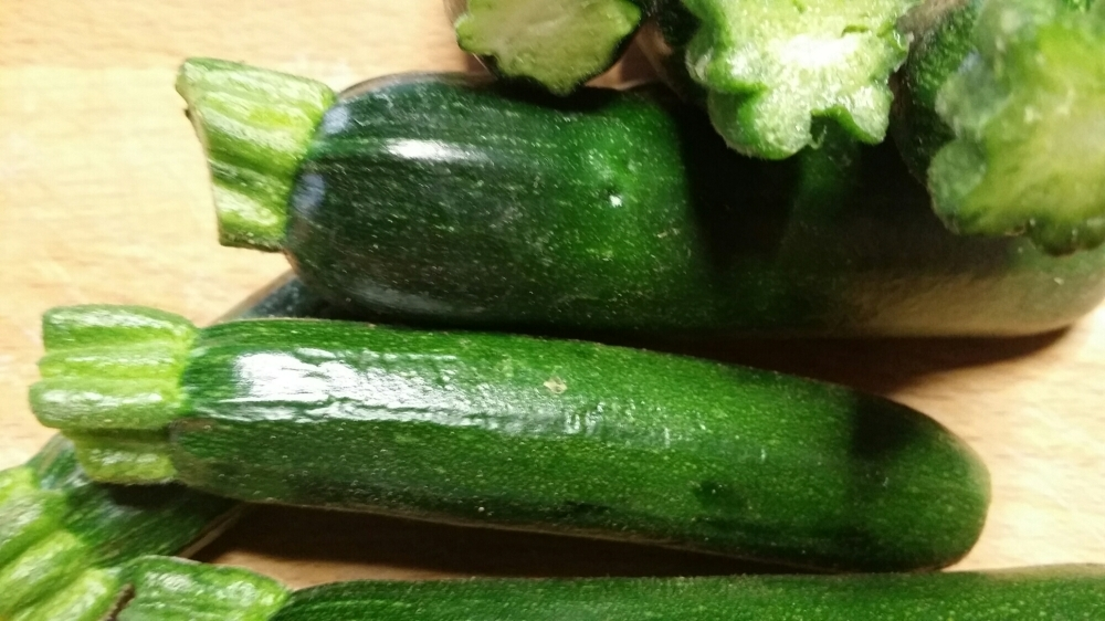 Baby courgettes
