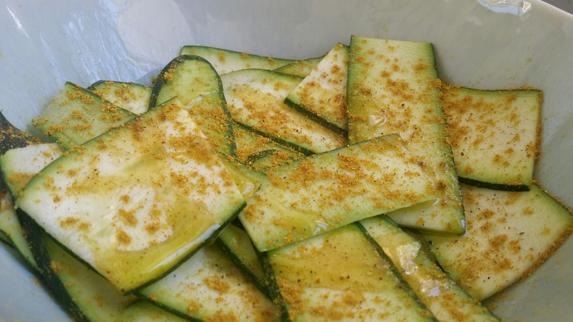 Courgettes et curry.