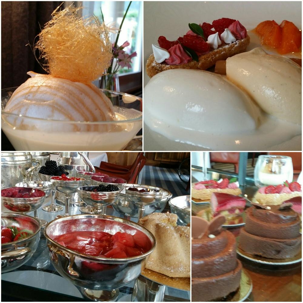 Chariot des desserts...