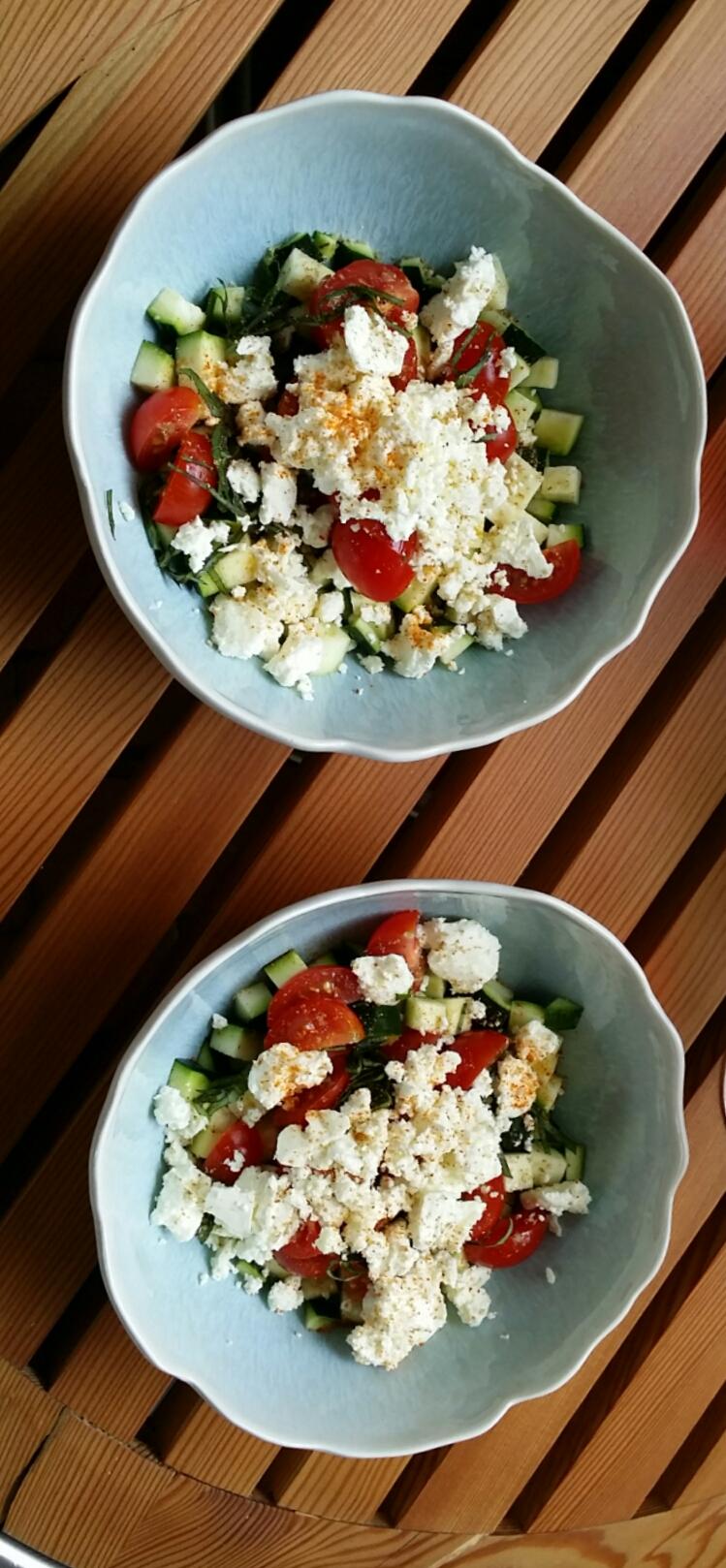 Courgettes en salade.