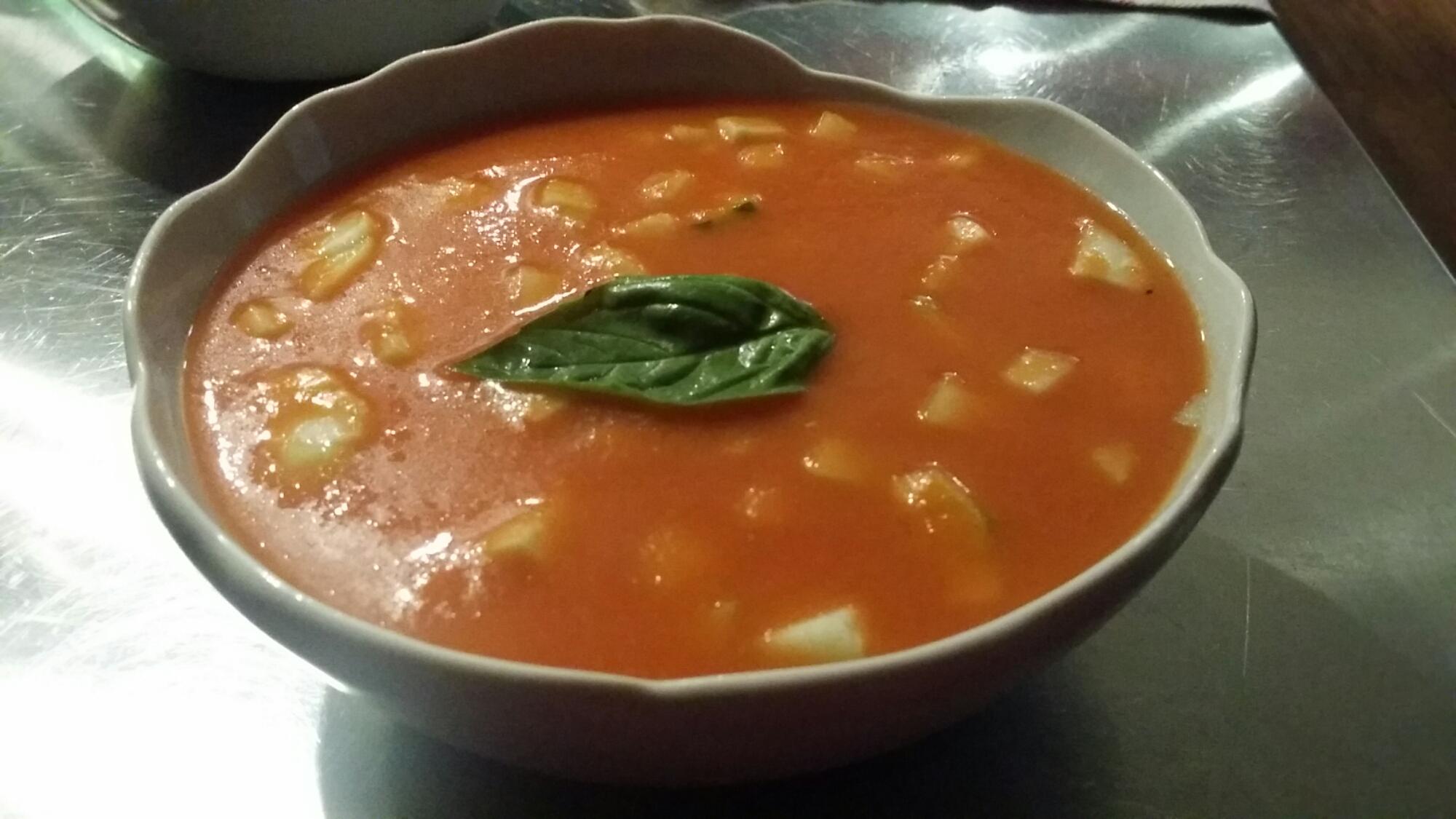 Gaspacho de tomates.
