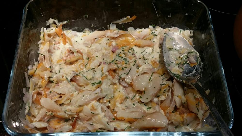 qu'on ajoute à notre haddock avec notre ciboulette et notre crème fraîche