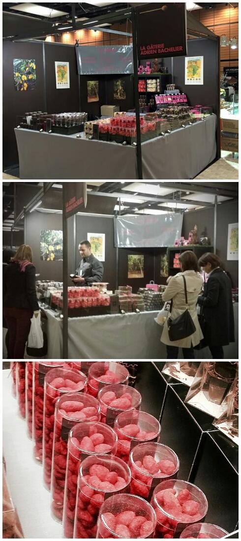 Adrien Bachelier présentait ses nouveautés fraises et pralines,...