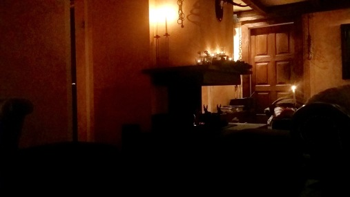 Feu de cheminée...bougies...