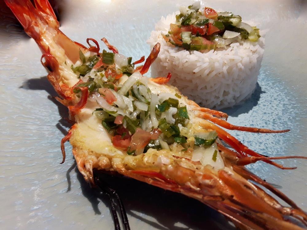 [Sur les braises!] Crevettes royales sauce epicée.