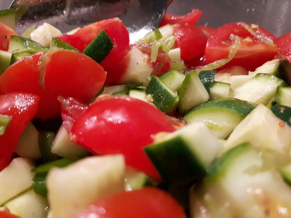 Mélange de petits légumes qui accompagnera notre petit épeautre.
