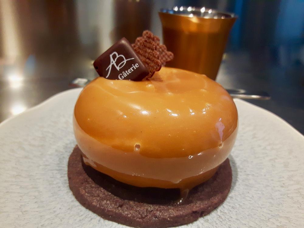 Mini bavarois chocolat et caramel...