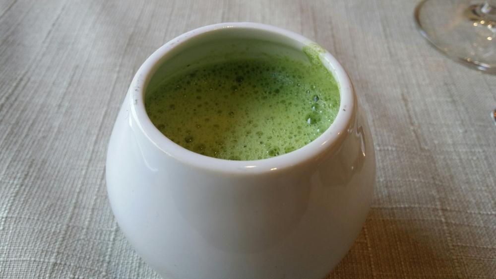 Crème de lentilles au jus de roquette (avec un soupçon de champignons!)...