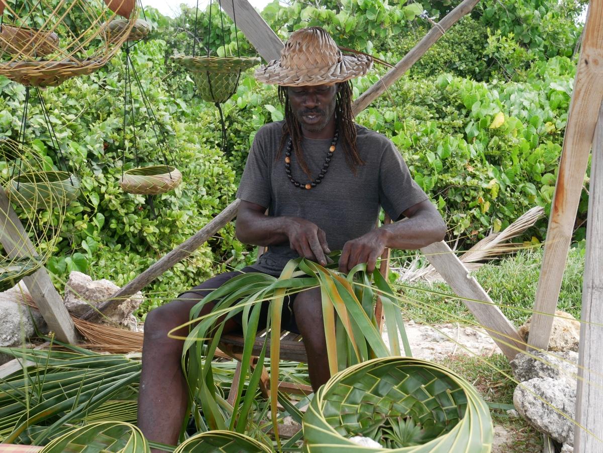 [Destination Guadeloupe!]  L'homme qui tressait les palmiers...