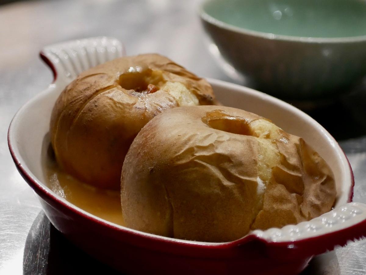 [Un peu de réconfort!] Pommes au four. Miel et fruits secs.