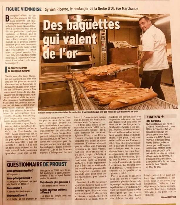 """Sylvain Ribeyre """"Des baguettes qui valent de l'or."""""""