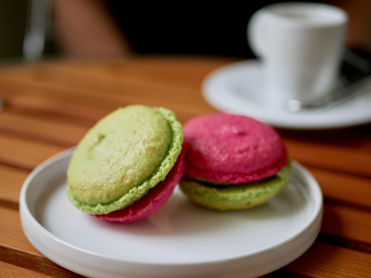[A girly touch'][Vice-versa!] Macaron pistache et framboise