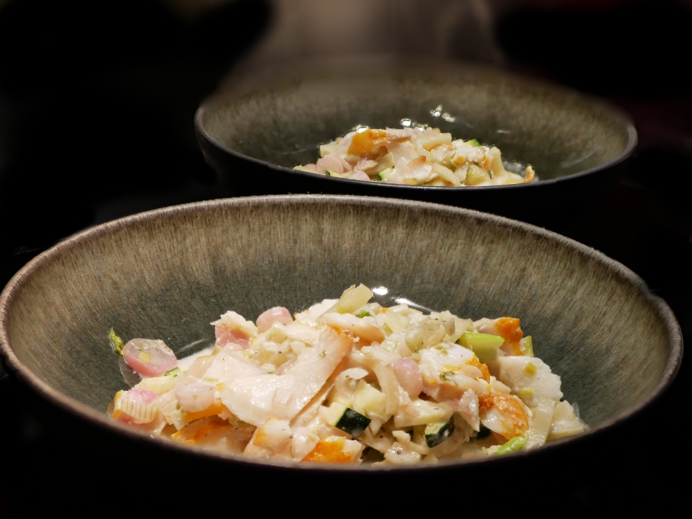 wok haddock chèvre