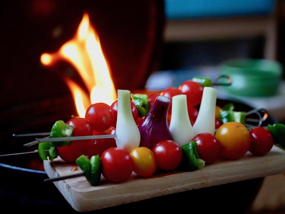 [Sur le grill!] Brochettes de tomates cerises.